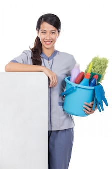 Cleaning maid woman smiling
