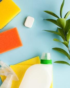 家、敷地の掃除、消毒のための掃除用品