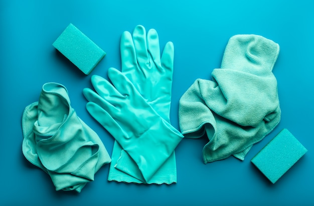 Чистящие средства бытовая губка перчаточная салфетка