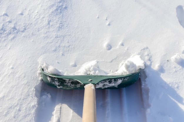 Cleaning snow after snowstorm
