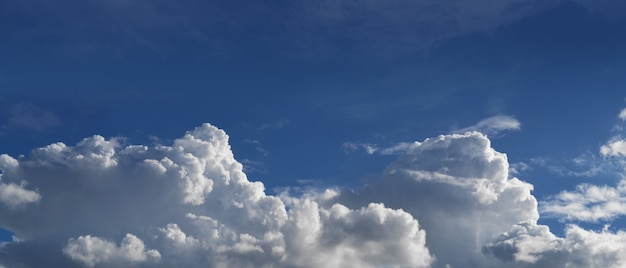 Clear blue sky, blue sky with white clouds, abstract background