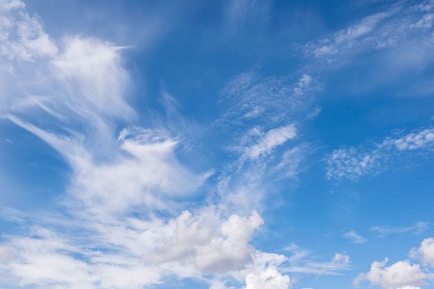Clear blue sky and clouds for background or backgrop nature concept