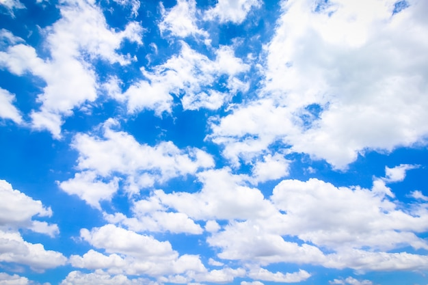 Clear blue sky with cloudy, pastel sky
