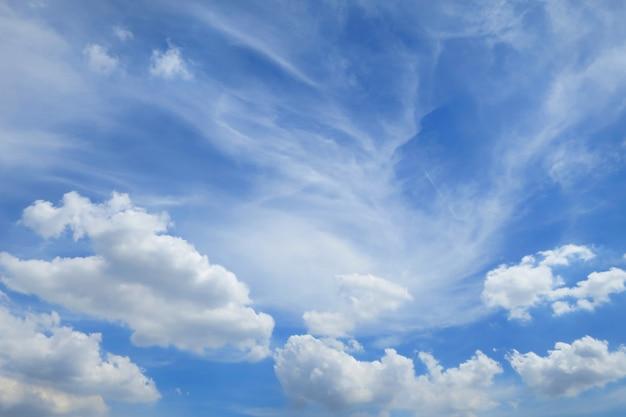 夏の白い雲と澄んだ青い空