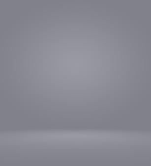 Chiaro vuoto fotografo studio sfondo astratto, texture di sfondo di bellezza blu chiaro scuro e chiaro, grigio freddo, bianco nevoso gradiente parete piatta e pavimento in una stanza vuota spaziosa inverno interno.