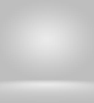 Очистить пустой фон студии фотографа аннотация, фоновой текстуры красоты темный и светло-голубой, холодный серый, снежно-белый градиент плоской стены и пола в зимнем интерьере пустой просторной комнаты.