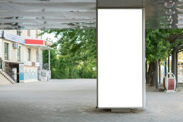 The clear mockup copy space public city advertisement poster outdoor in the street