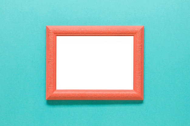 Clear orange photo frame