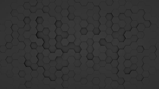 Четкий узор абстрактный фон стена шестиугольник черный, обои футуристический темный