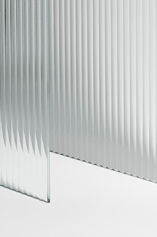 투명 패턴 유리 제품 배경