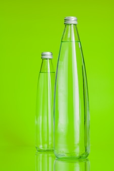 Clear and pure mineral water