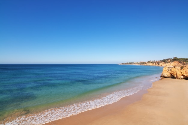 Clear sea on a summer day. portugal.