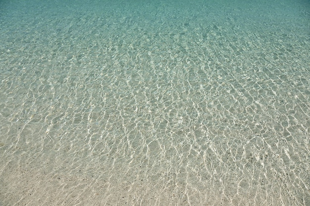 Clear transparent shallow sea water