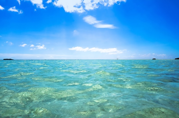フィリピン諸島の澄んだ透明な海