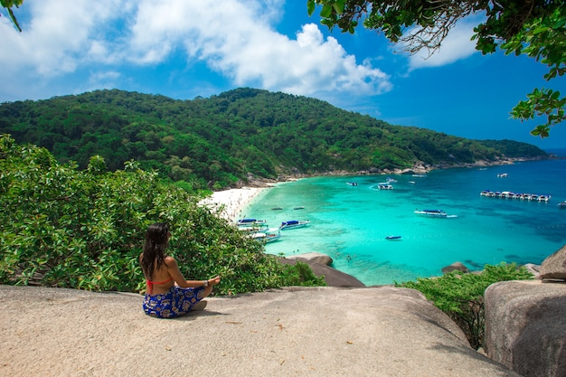 Clear water beautiful sea like a heaven at similan island, phang-nga thailand