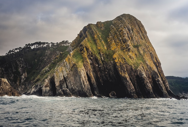 바다의 절벽