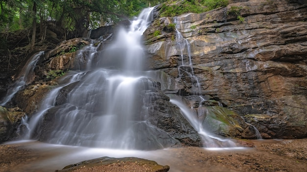Cliff stone waterfall