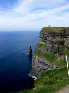 Cliffs, castle, aran islands