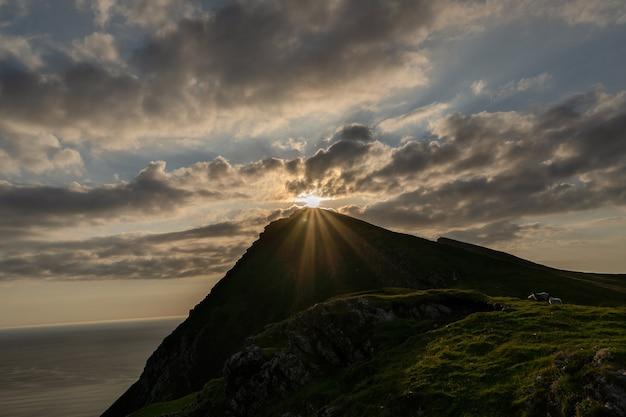 Cliffs of croaghaun, achill island ireland