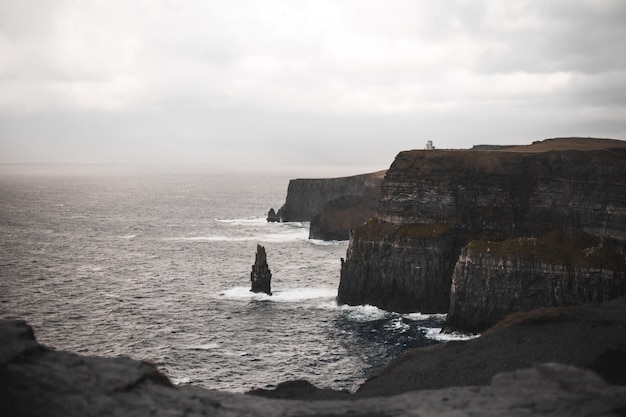 Cliffs of moher with cloudscape