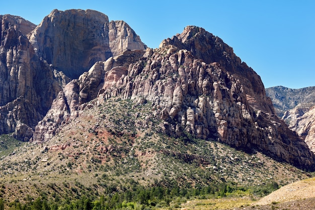Cliffs in red rock canyon, nevada, usa
