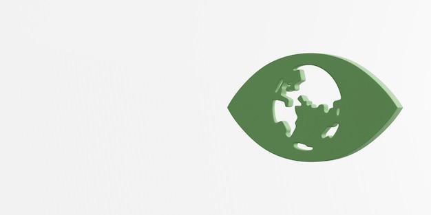기후 행동 아이콘 3d 렌더링