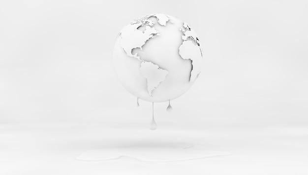 3d 렌더링의 기후 변화 개념 백서