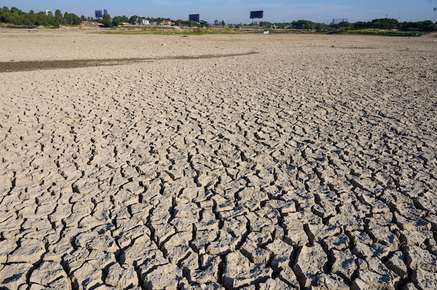 Climate change and drought land, water crisis and global warming
