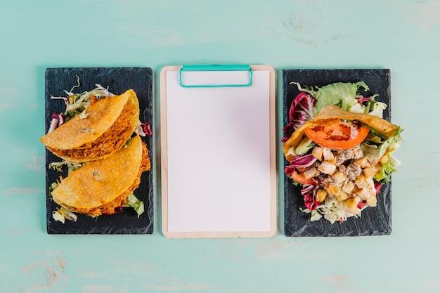 メキシカン料理のクリップボード