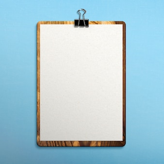 Clipboard on fabric surface
