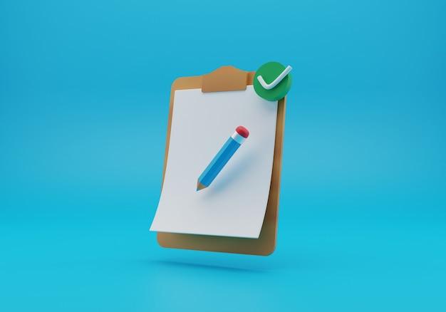 Clipboard illustration 3d rendering