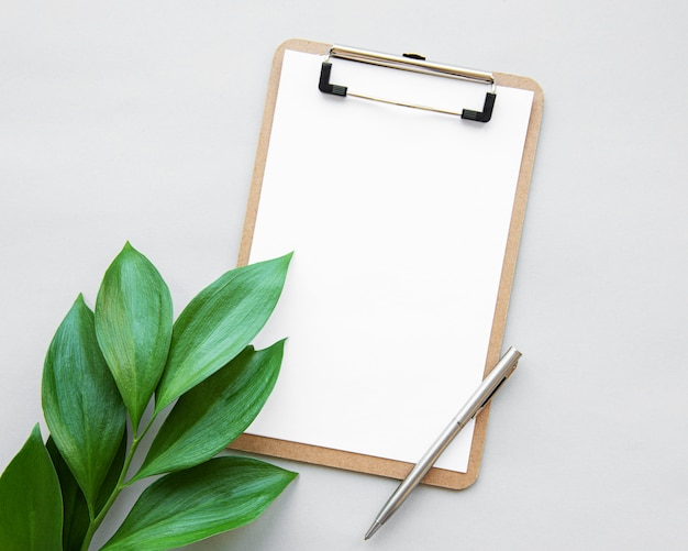 Clipboard and leaves
