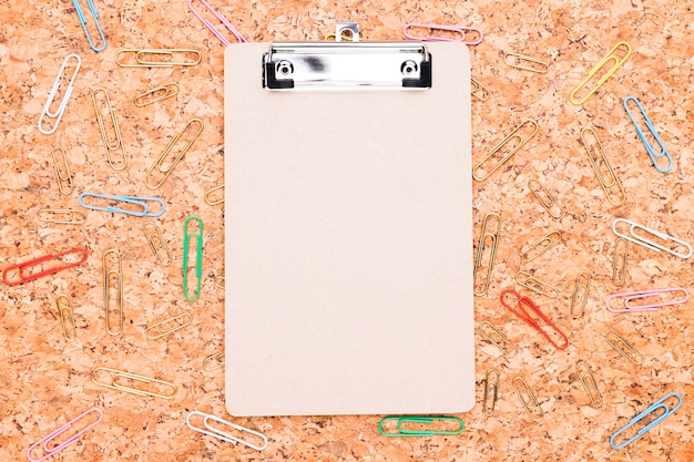 Clipboard and paper clips