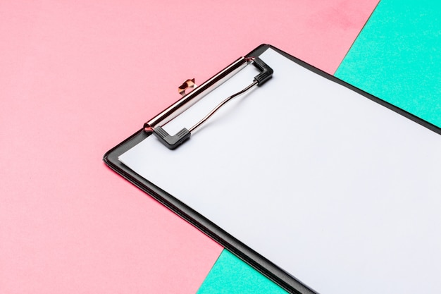 Clipboard on vibrant duotone background