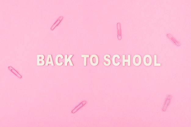 Clips around back to school writing