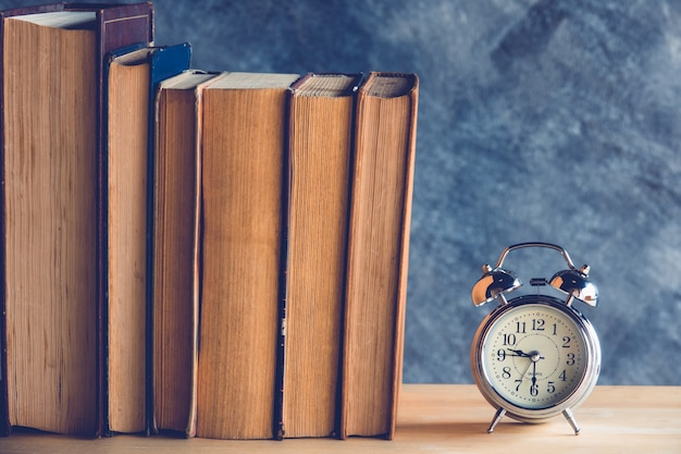 Clock and book