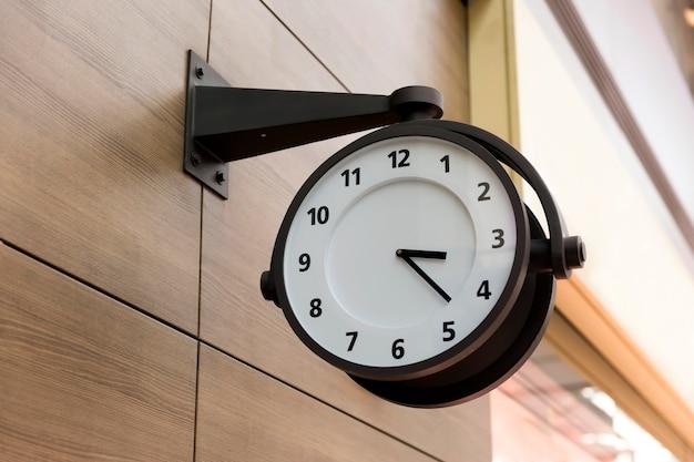 Clock hanging on wall in korean airport