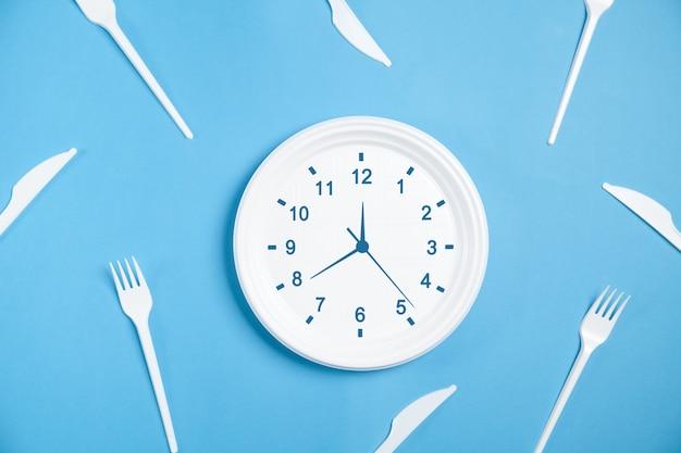 Часы в тарелке. время есть