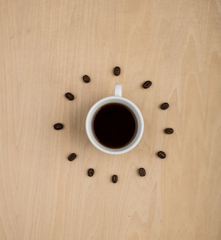 Clock made of coffee beans