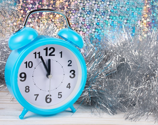 Clock showing almost midnight as a new year concept