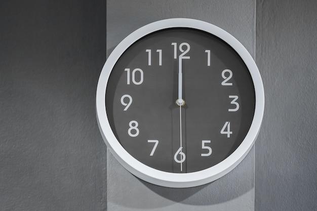 Clock showing at noon