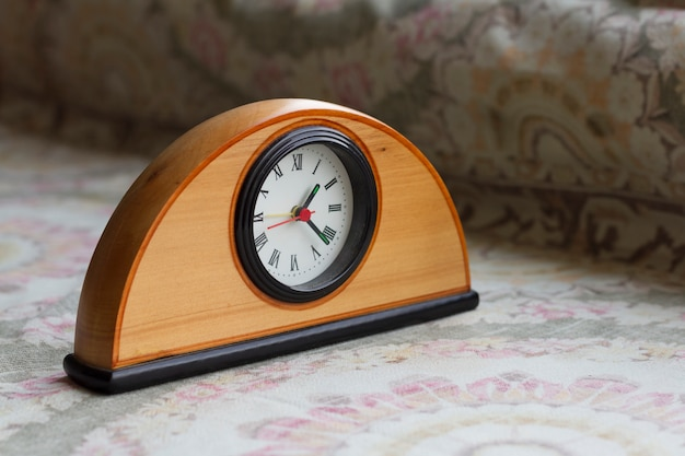 Clock on the table with