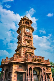 Clock tower ghanta ghar local landmark in jodhpur rajasthan india