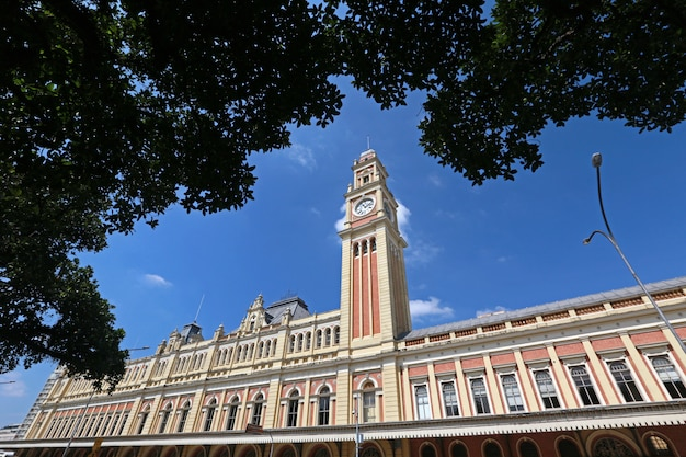 Clock tower of the luz station, sao paulo