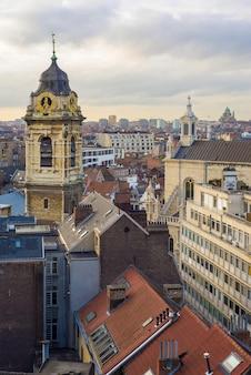 브뤼셀, 벨기에 교회 세인트 캐서린의 시계탑