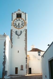 Clock tower at tavira portugal