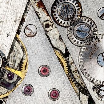 시계 장치 오래 된 기계식 시계 고해상도 및 세부 사항