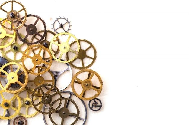 Clockwork victorian clock time rustic