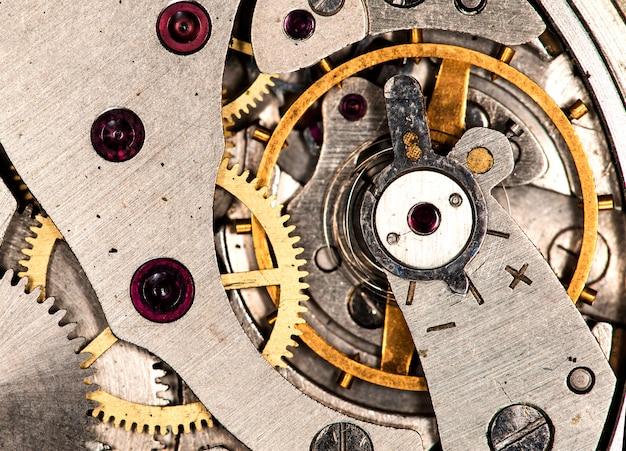 시계 장치 빈티지 기계식 시계 고해상도 및 세부 사항
