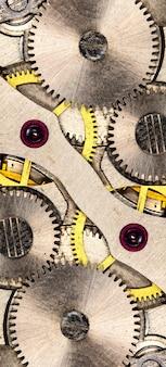 Clockwork vintage mechanical watch high resolution and detail